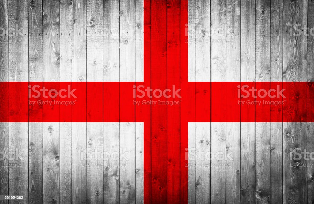 English flag is painted on a wooden surface royalty-free stock photo