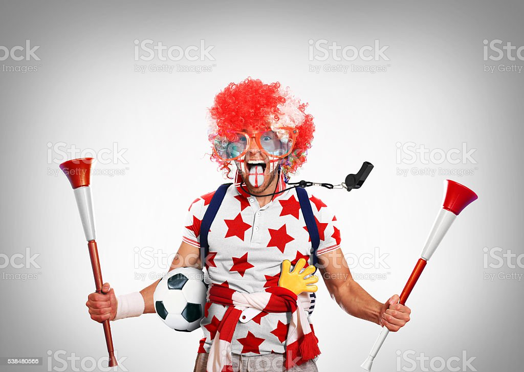 English football fan stock photo