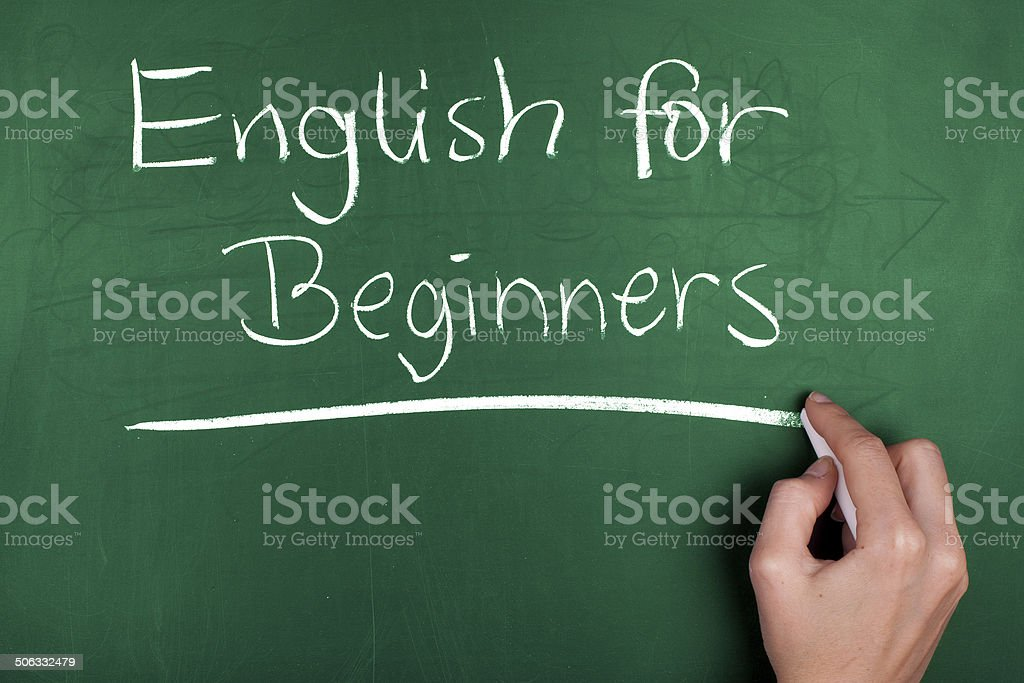 English for Beginners stock photo