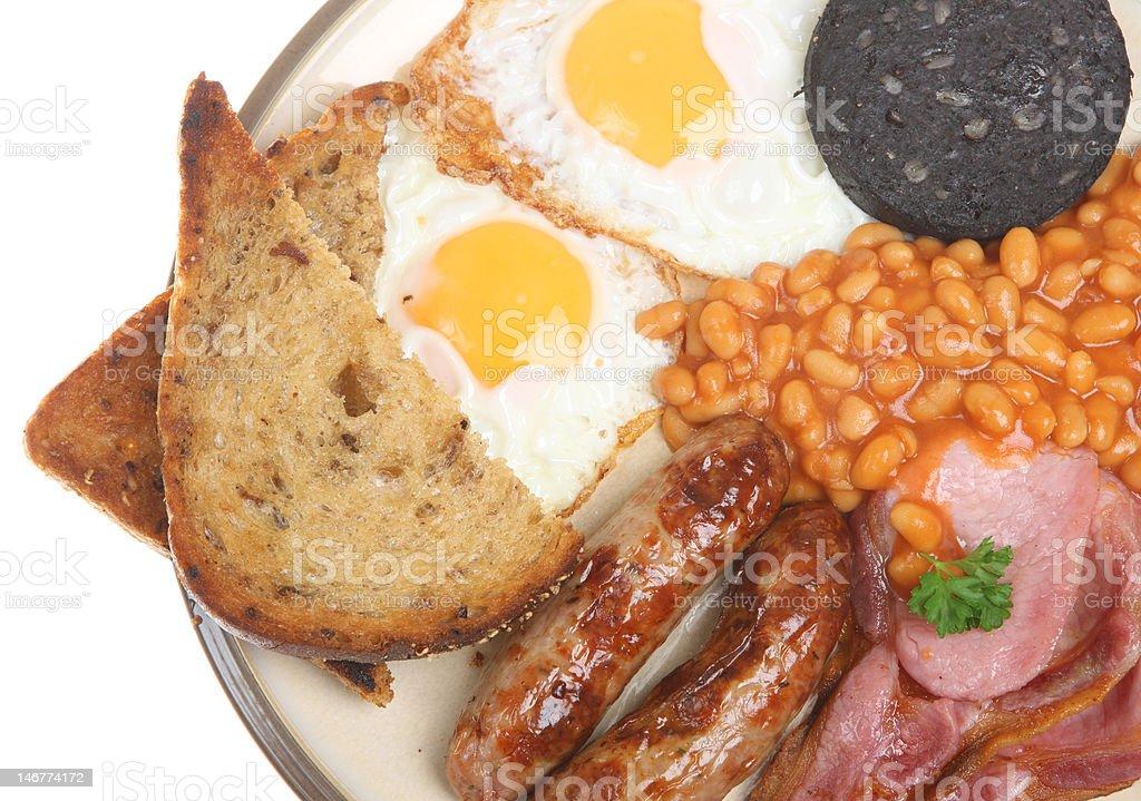 English Fried Breakfast royalty-free stock photo