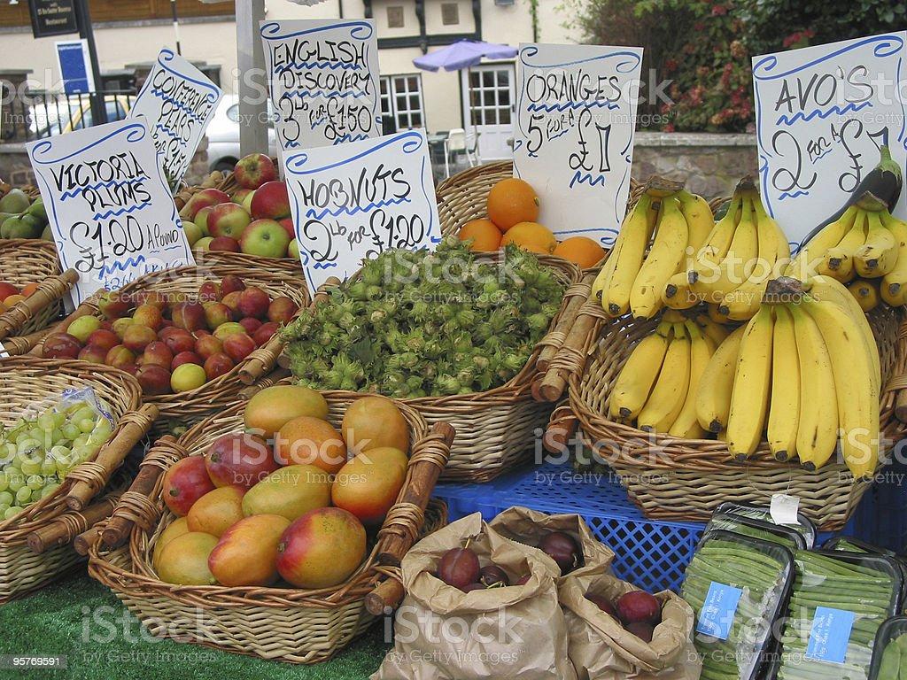 English Fruit Stall 2 royalty-free stock photo
