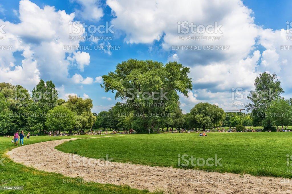 English Garden Englischer Garten On This Summer Day Stock Photo