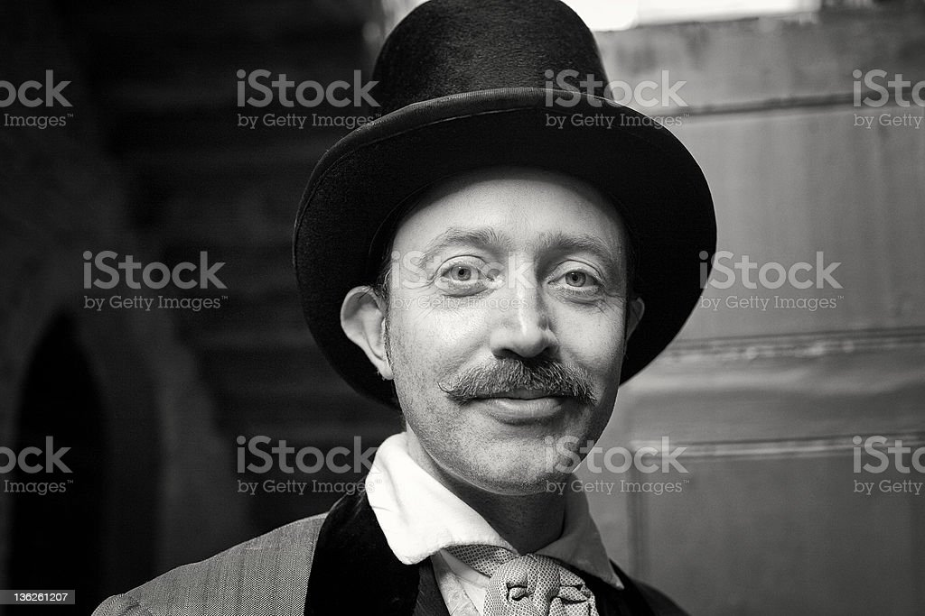 English Gentleman with top hat stock photo