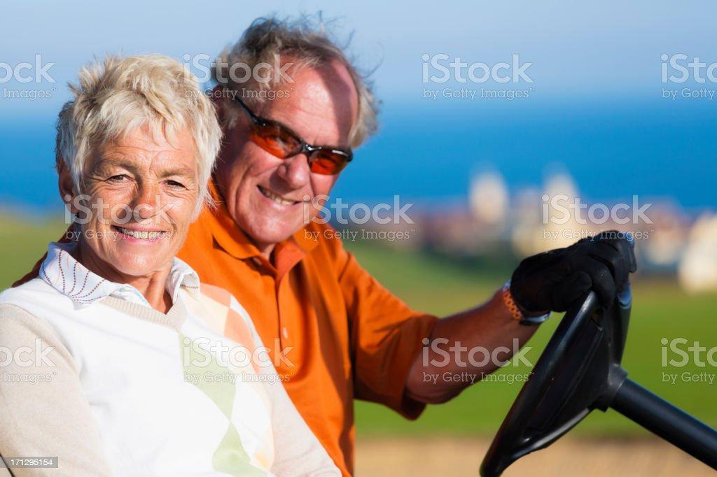 English Golfers stock photo
