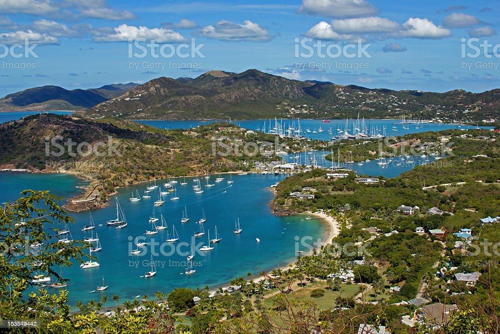English Harbor,  Antigua, Caribbean royalty-free stock photo