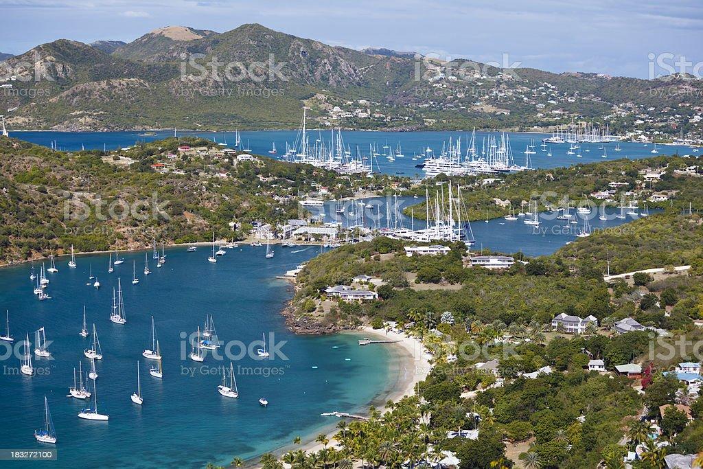 English Harbor, Antigua royalty-free stock photo