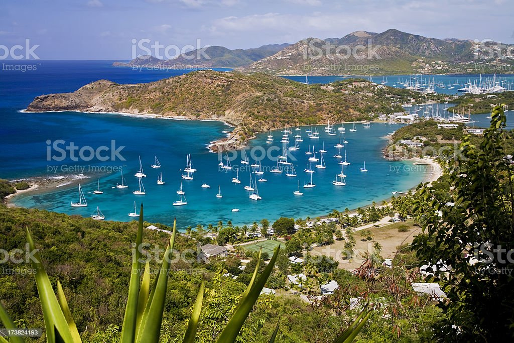 English Harbour, Antigua stock photo