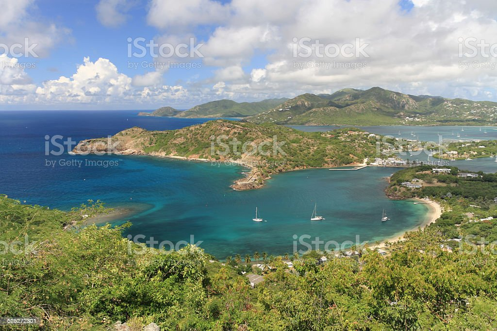 English Harbour, Antigua stock photo