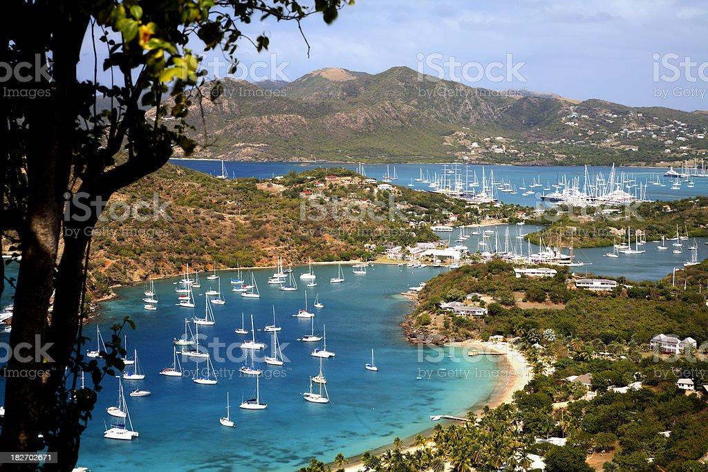English Harbour & Falmouth, Antigua stock photo