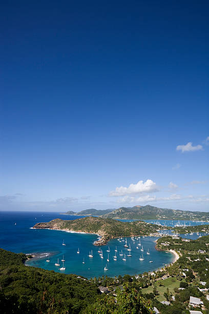 English Harbour from Shirley Heights stock photo
