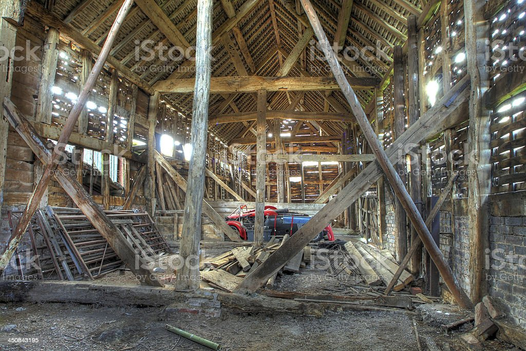 English hay barn stock photo