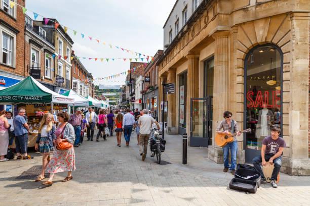 English High Street stock photo