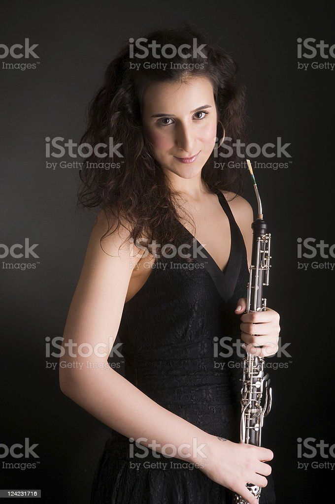English Horn Player stock photo
