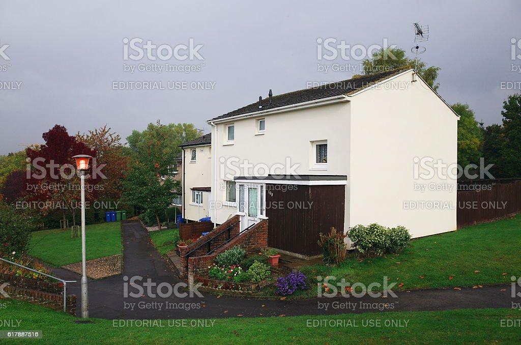 English Houses on a Grey Day stock photo