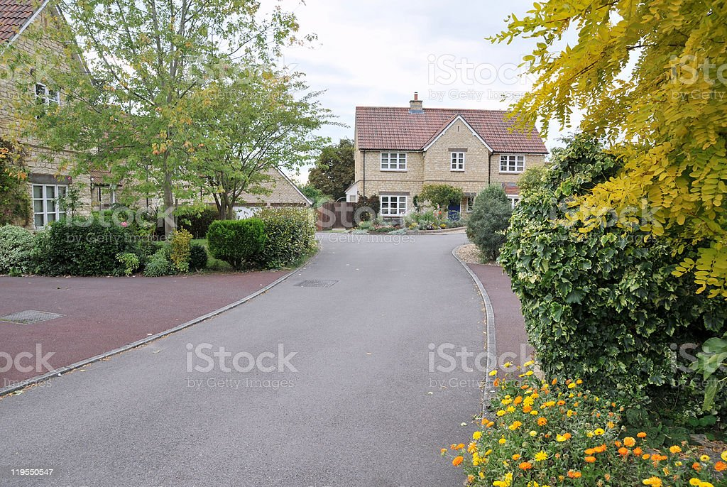 English Housing Estate royalty-free stock photo