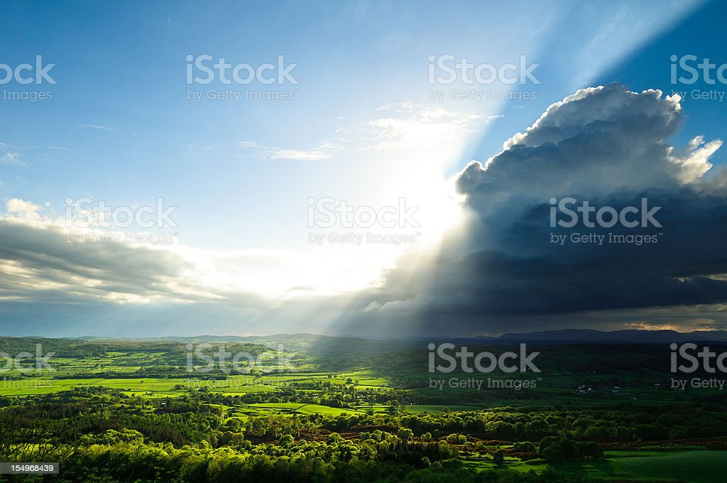 English Lake District: clearing rain clouds royalty-free stock photo