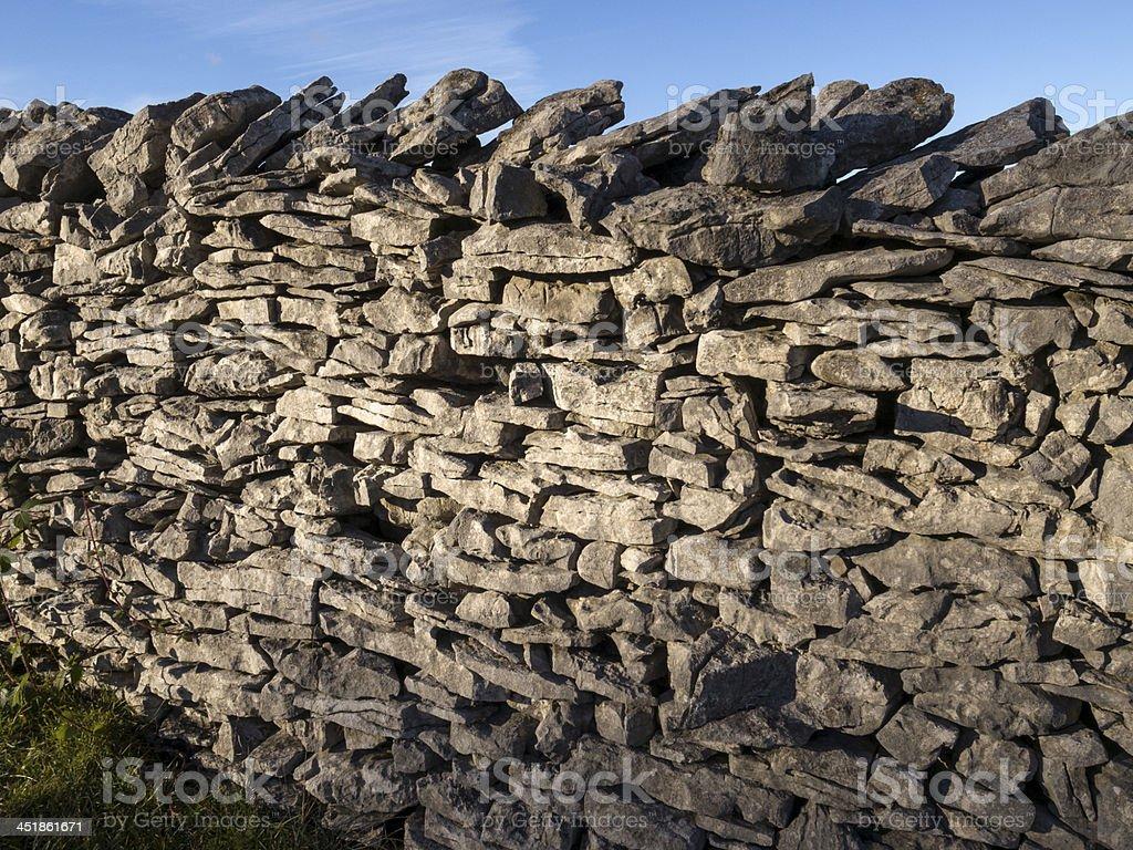 English Lake District: dry stone wall royalty-free stock photo