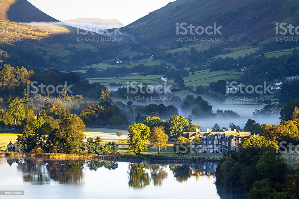 English Lake District: Grasmere sunrise stock photo