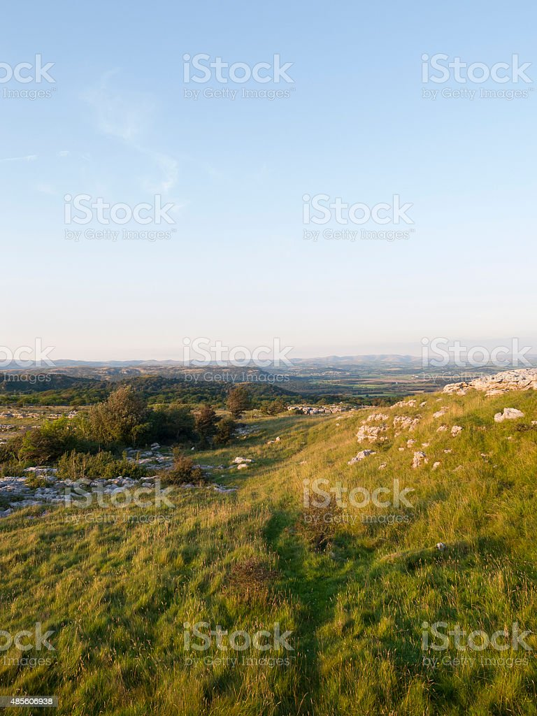 English Lake District: Hampsfell (karst) and surrounding countryside stock photo