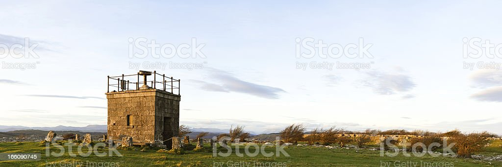 English Lake District: Hampsfell panorama stock photo
