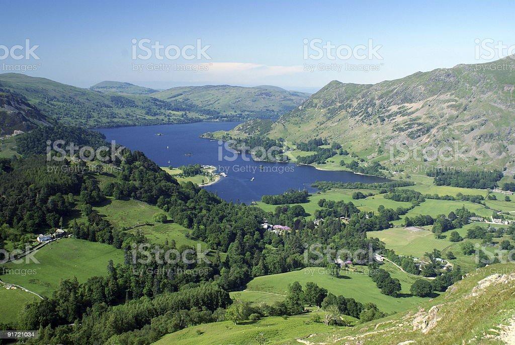 English Lake District in Summer (Ullswater) royalty-free stock photo