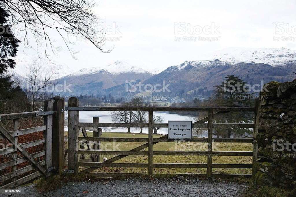 English Lake District in winter royalty-free stock photo