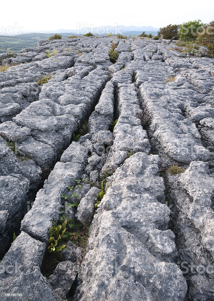 English Lake District: limestone pavement stock photo