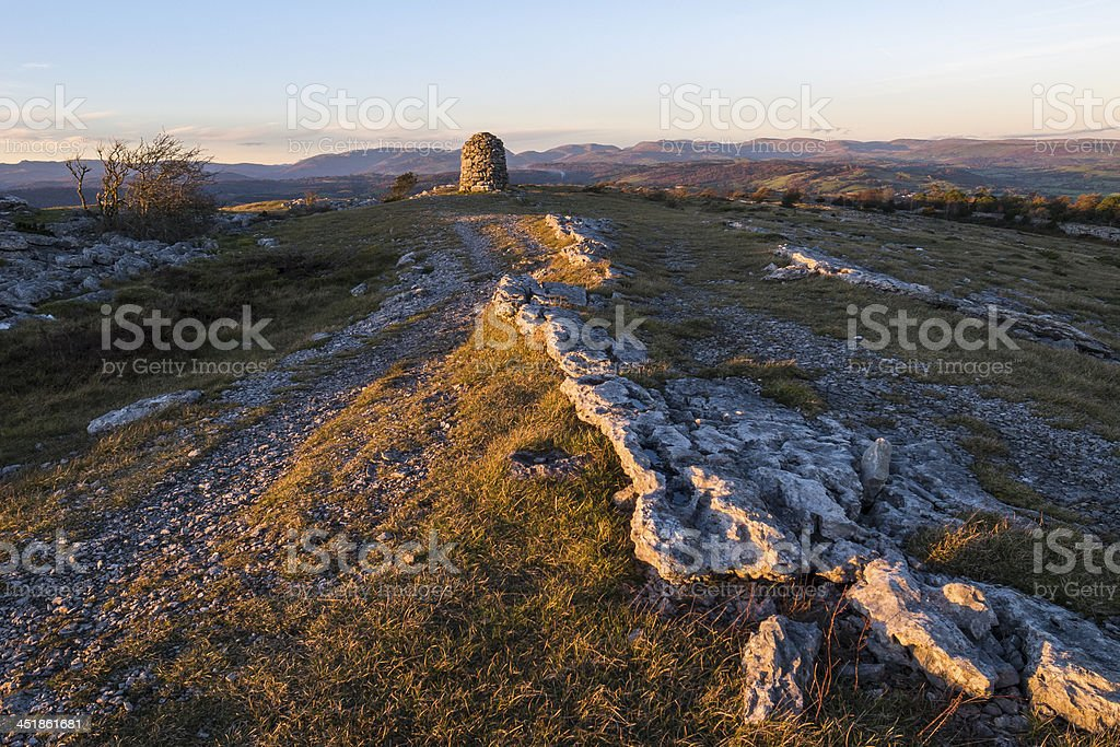 English Lake District: Lord's Seat, Whitbarrow Nature Reserve royalty-free stock photo