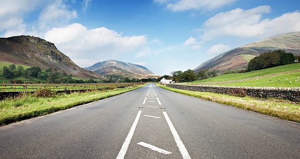 English Lake District Road  cumbria stock pictures, royalty-free photos & images