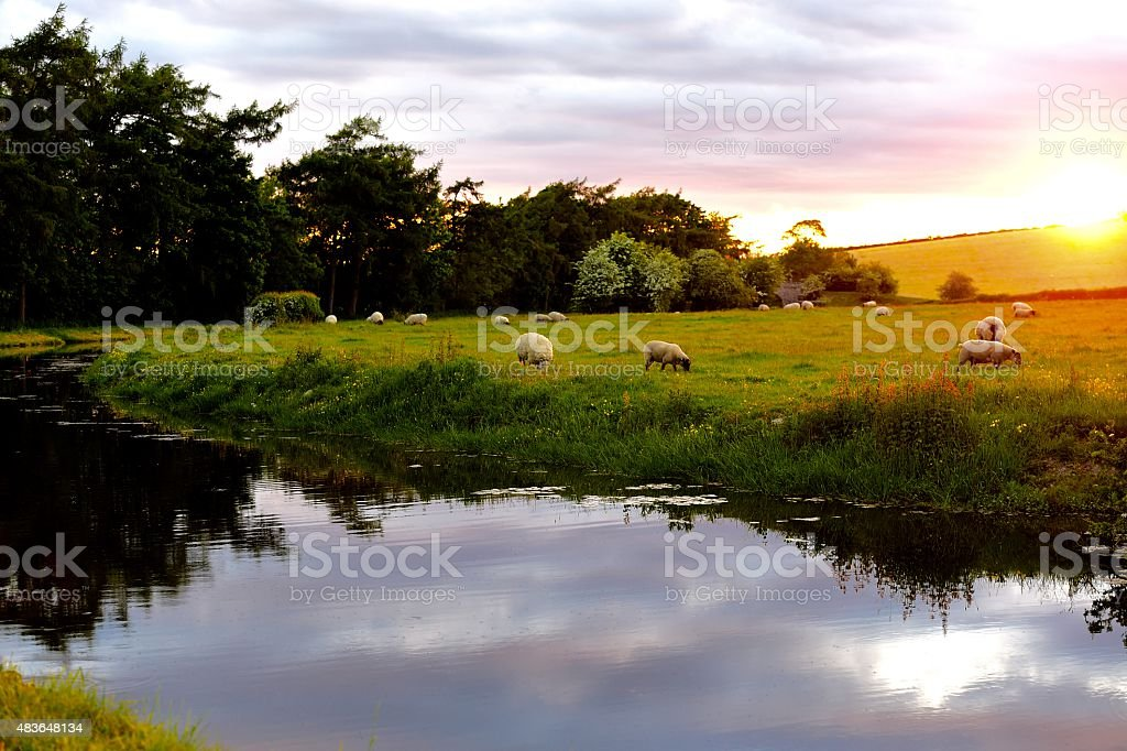 English Landscape stock photo