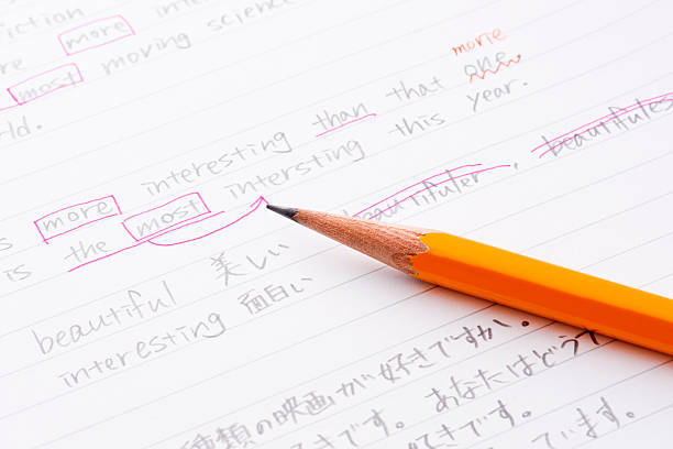 English language practice - foto de stock