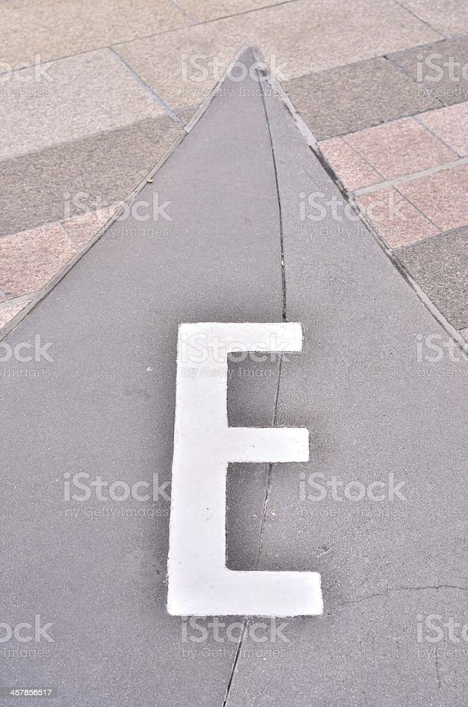 English letter on the wall royalty-free stock photo