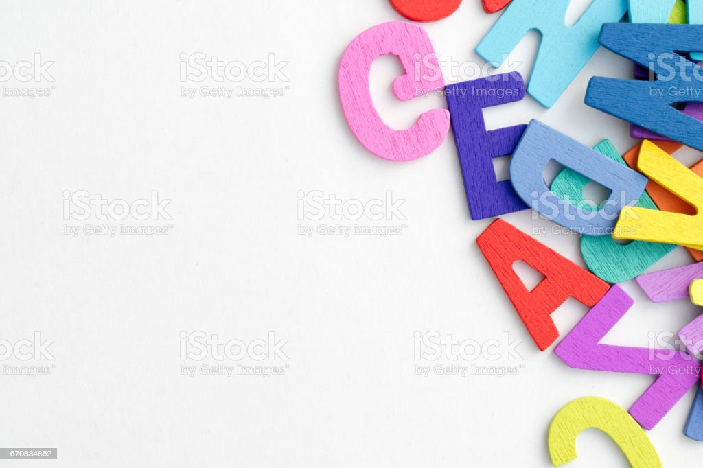 English letters background. stock photo