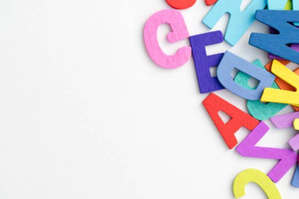 Englische Buchstaben Hintergrund. – Foto