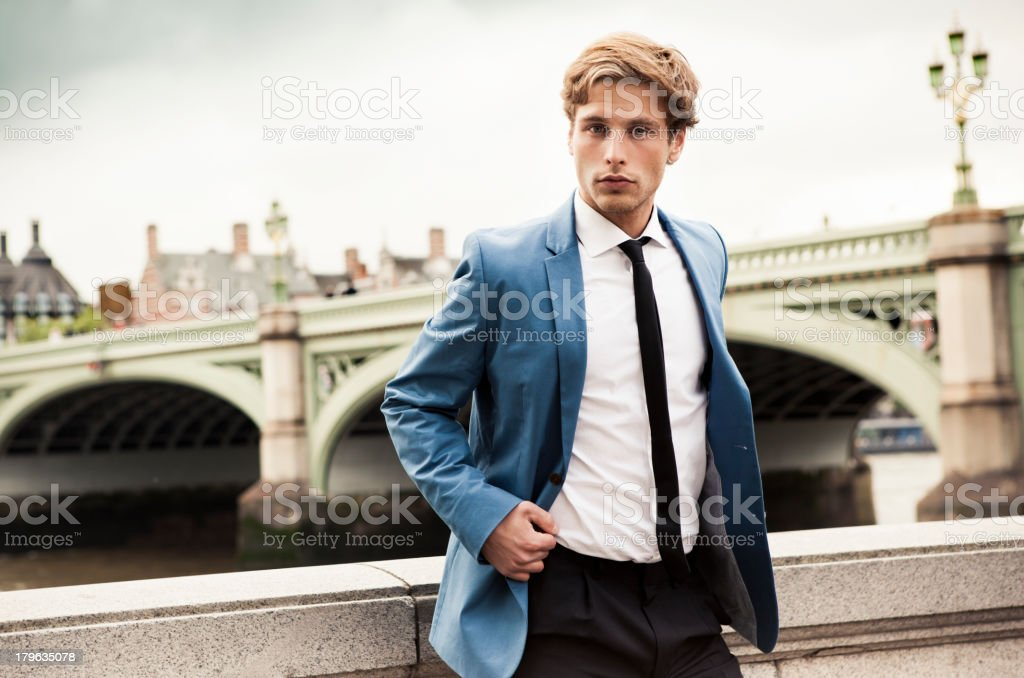 English Man in London royalty-free stock photo