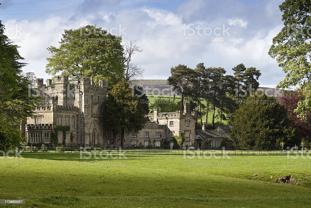English Manor with Yorkshire Moors royalty-free stock photo
