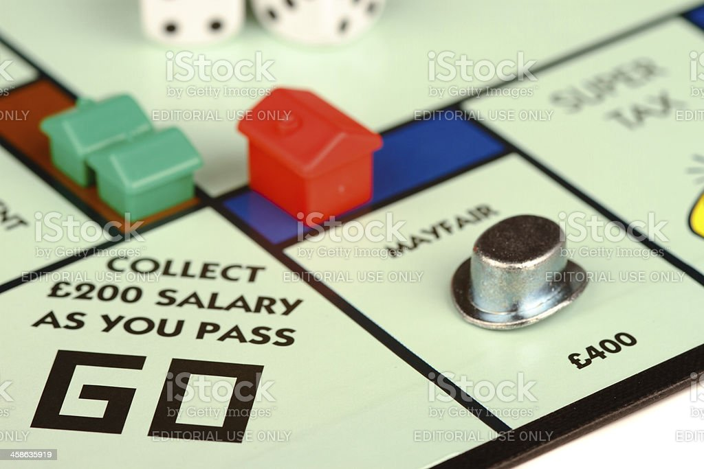 English Monopoly Board Game royalty-free stock photo