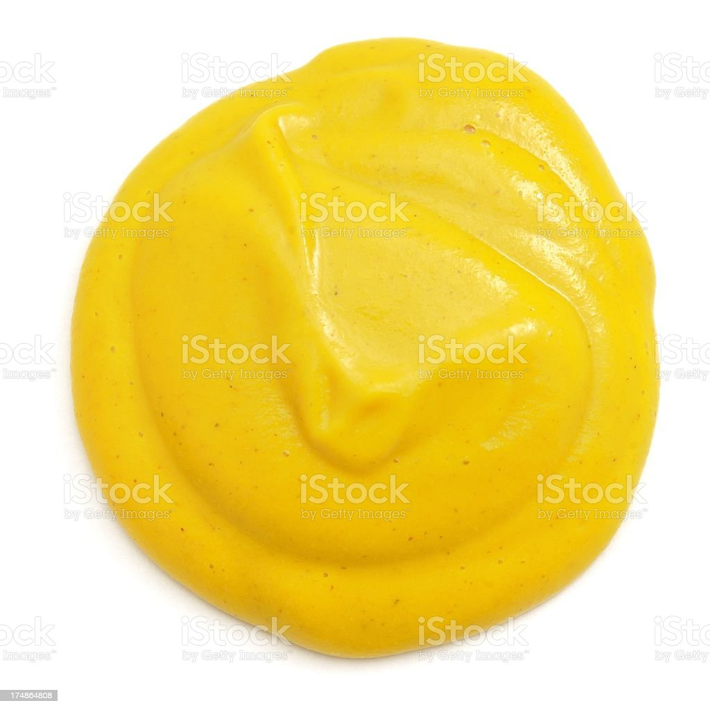English(yellow) mustard from above stock photo