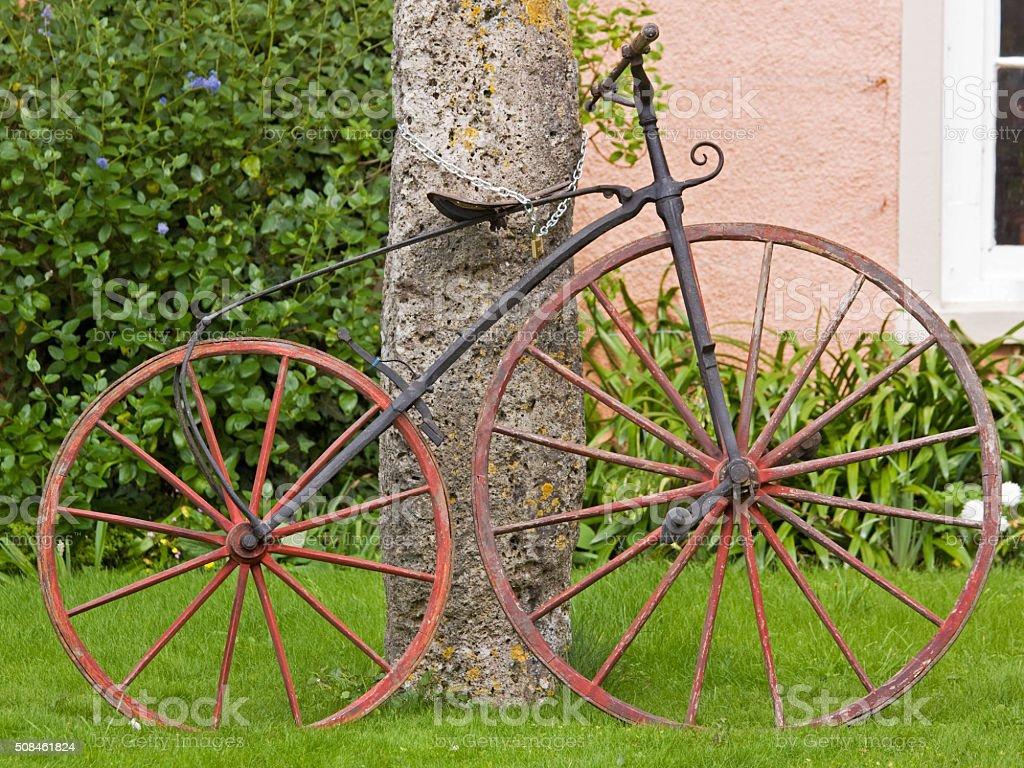 Inglés siglo XIX Boneshaker bicicleta - foto de stock