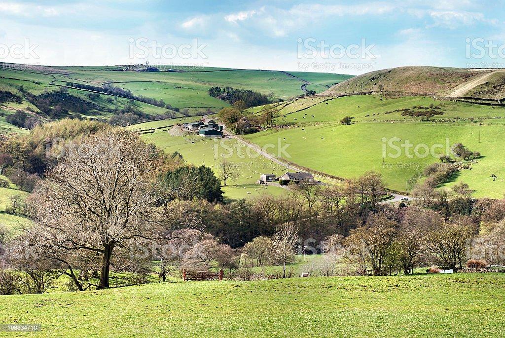 English Peak District landscape royalty-free stock photo