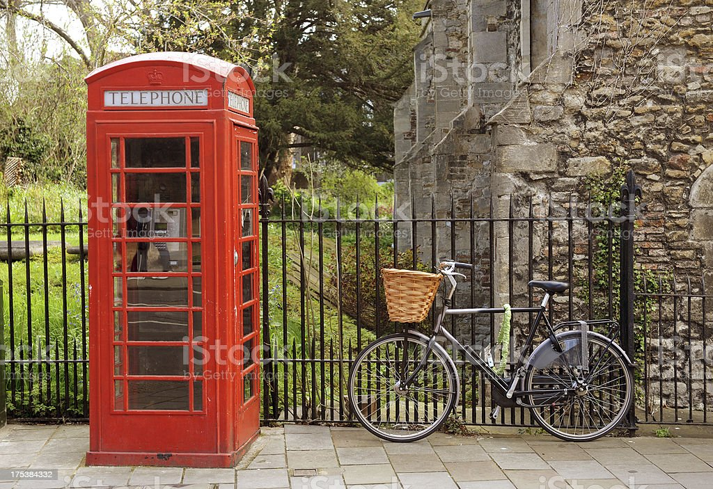 English Phone box stock photo