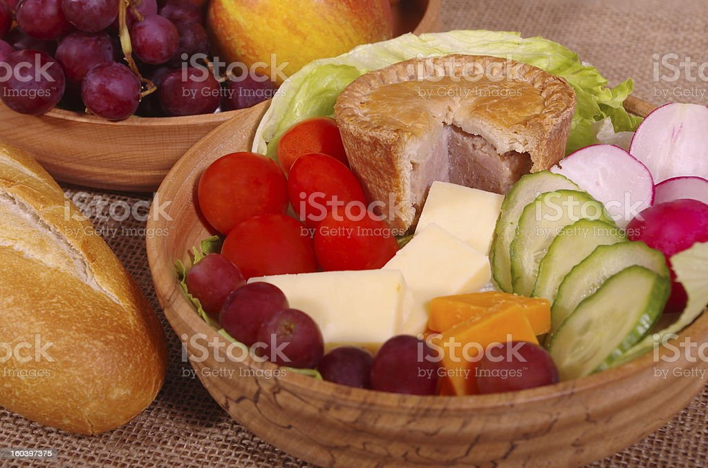 English Ploughmans Lunch royalty-free stock photo