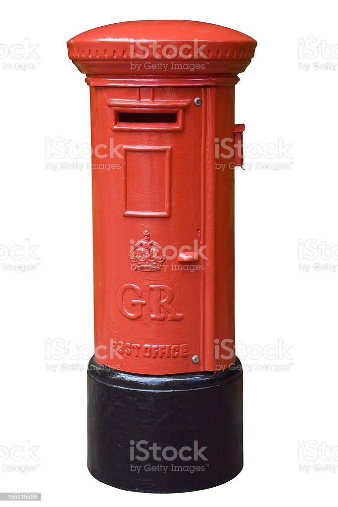 English post box stock photo