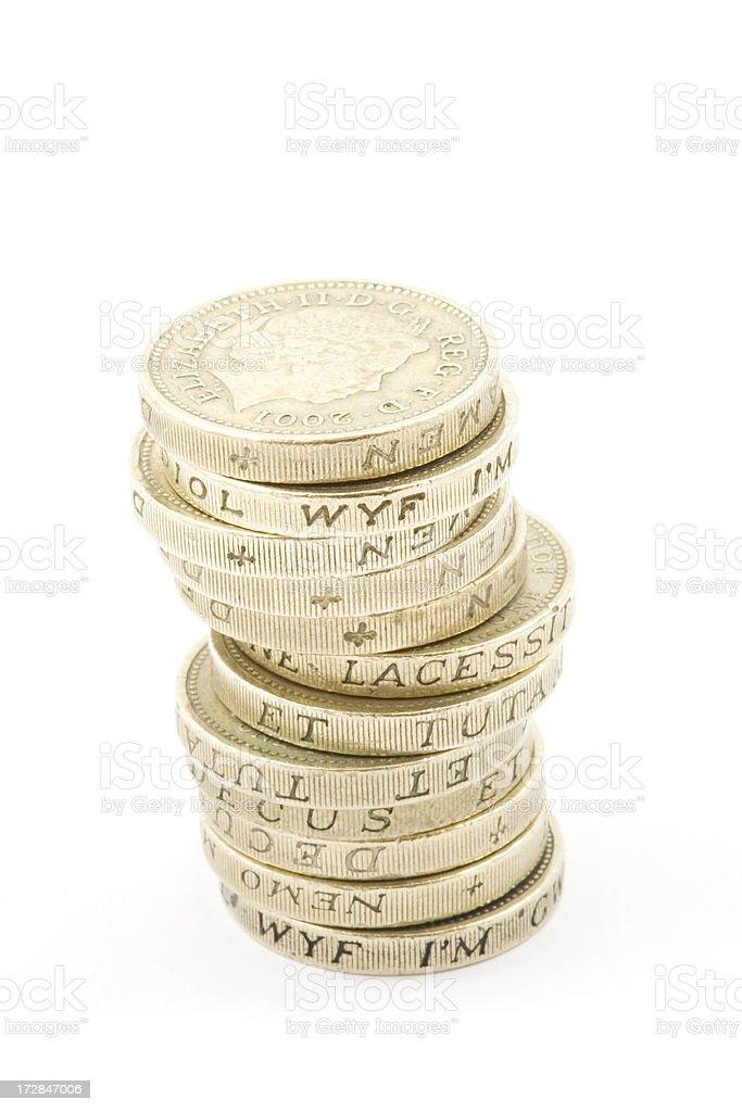 English Pound Coins royalty-free stock photo