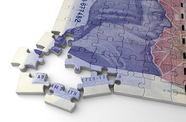 English Pound Puzzle stock photo