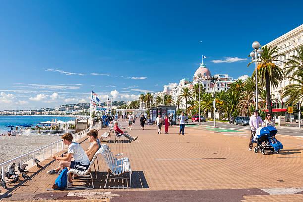 English promenade in Nice stock photo