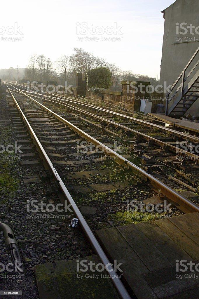 english railway line track royalty-free stock photo