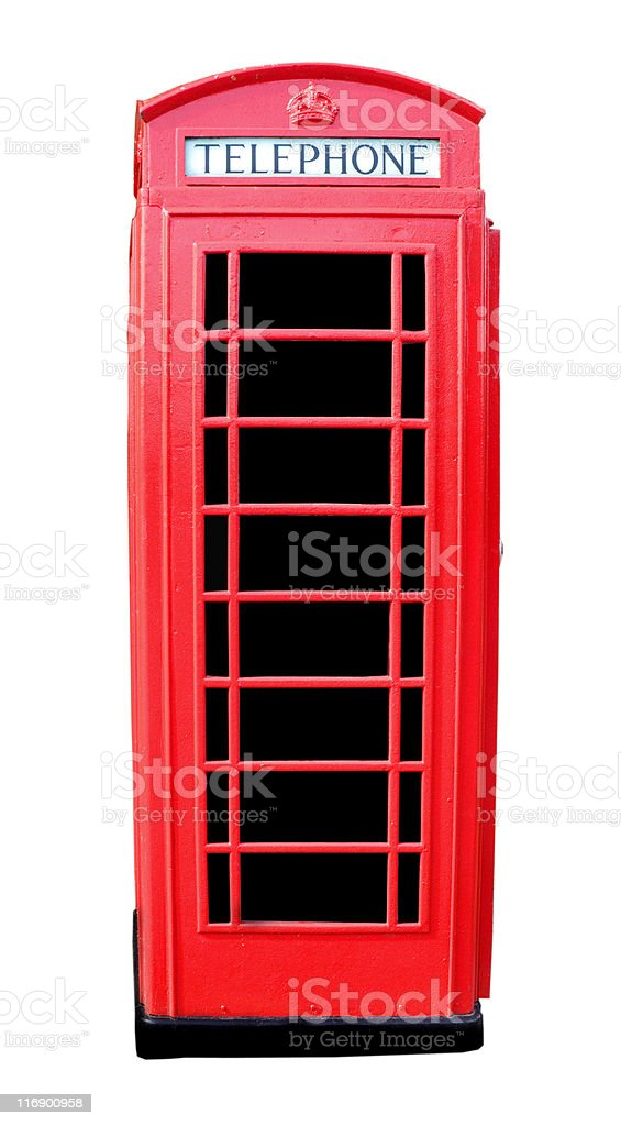 English Red Phone Box royalty-free stock photo