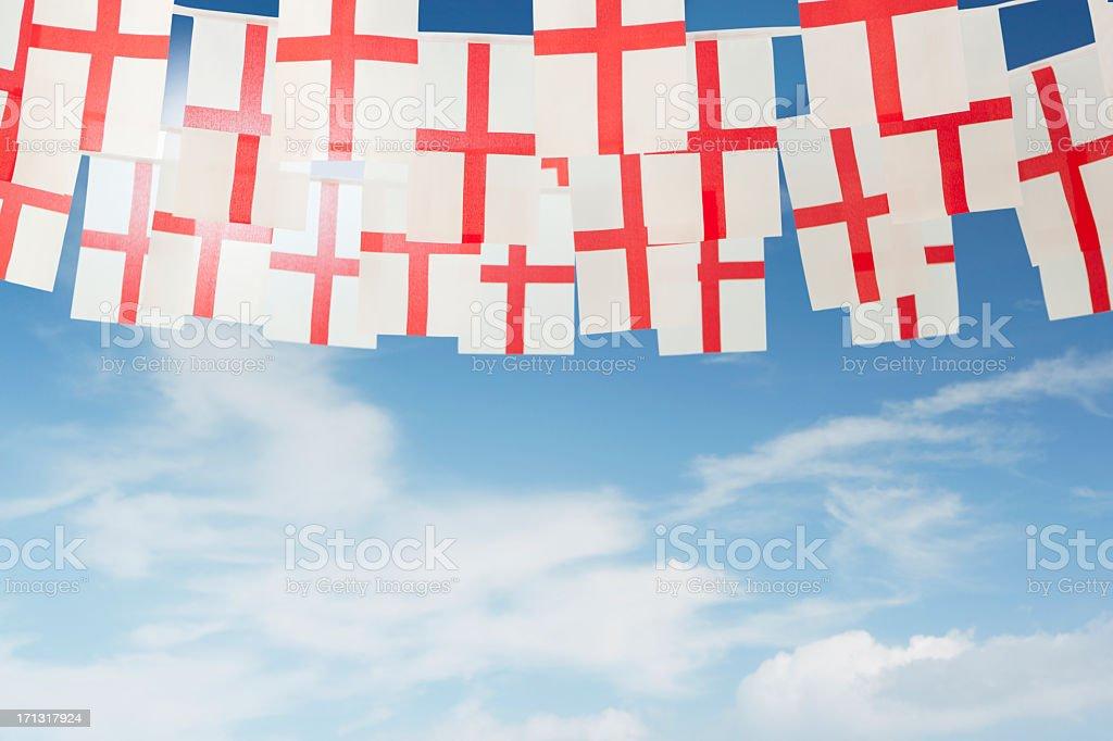 English Saint George's celebratory bunting stock photo