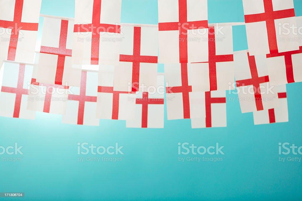 English Saint George's flag celebratory bunting royalty-free stock photo